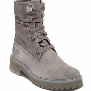 Timberland Combat Grey Suede & Canvas Boot NEW 9